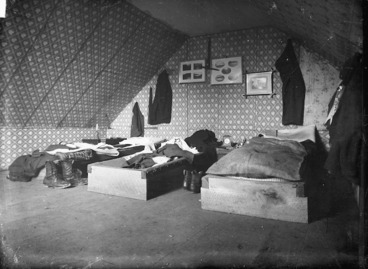 "Image: Bedroom in ""The Old Shebang"", Cuba Street, Wellington"