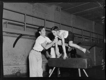 Image: Gymnastics at the Wellington Boys' Institute