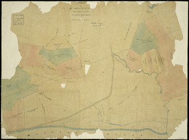 Image: Field, Henry Claylands, 1825-1912 :Plan of native lands at Putiki in the Wanganui district [ms map] / surveyed for Crown Grants; H.C. Field, surveyor, March 16th, 1865.