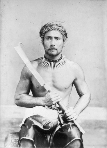 Image: Photograph of the first chief [unidentified] killed during the Samoan war