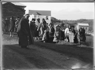 Image: Spectators at Parihaka Pa, Taranaki