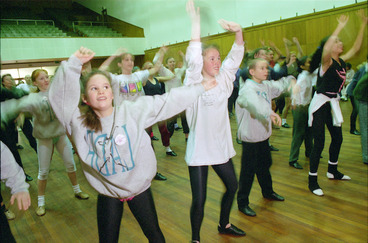 Image: Children at a dance workshop, Lower Hutt, New Zealand - Photograph taken by John Nicholson