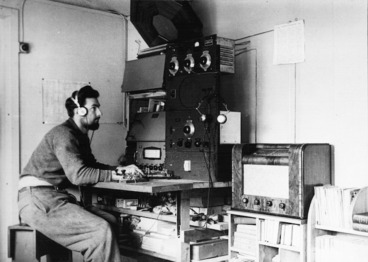 Image: C Young, wireless operator, Cambell Island