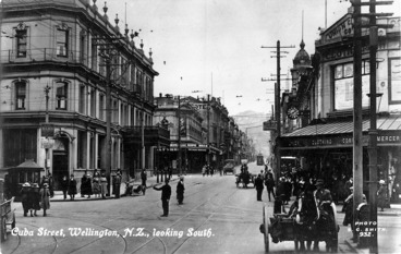 Image: Looking south along Cuba Street, Wellington