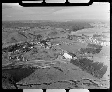 Image: Tokoroa, South Waikato District, Waikato Region, including surrounding farmland and nearby pine forests