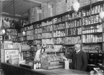 Image: Grocery shop interior