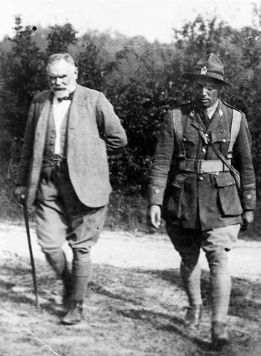 Image: Sir Thomas MacKenzie and Peter Henry Buck, in France