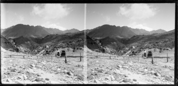 Image: Unidentified woman and small child walking in the Remarkables, Queenstown-Lakes District, Otago Region