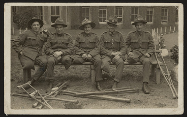 Image: Postcard with photograph of soldier amputees