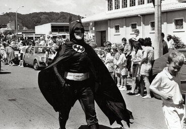 Image: Christmas Parade 1989; Batman (there were more than one).