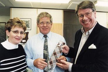 Image: Lady Provost Janis Milligan, mayor Rex Kirton, and Lord Provost of Edinburgh, Eric Milligan.