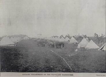 Image: Cavalry encampment on the Waverley Racecourse
