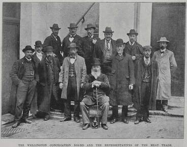 Image: The Wellington Conciliation Board and the representatives of the meat trade