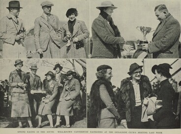 Image: SPRING RACING IN THE SOUTH: WELL-KNOWN CANTERBURY RACEGOERS AT THE GERALDINE CLUB'S MEETING LAST WEEK