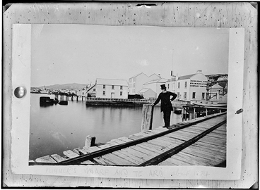 Image: Plimmer's Wharf and Te Aro, about 1874