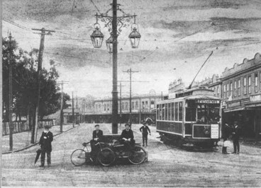 Image: Looking east from Three Lamps along Ponsonby Road showing....