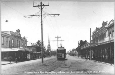 Image: Looking south along Ponsonby Road from Three Lamps, Ponsonby....