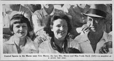 Image: Portrait of Freda Stark with Eric and Mrs Mareo at a picnic in...
