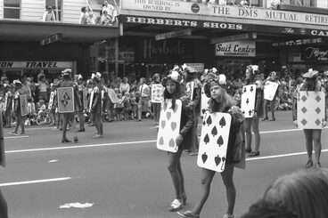Image: Deck of cards, 1972 Farmers Santa Parade