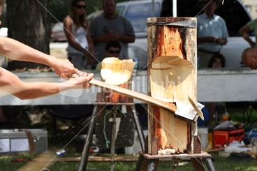 Image: Woodchopping at the A&P Show