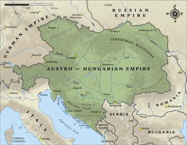Image: Map of the Austro-Hungarian Empire in 1914