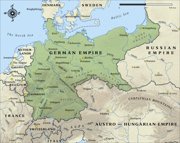 Image: Map of the German Empire in 1914