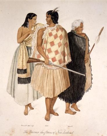 Image: Hōne Heke, Kawiti and Hariata Rongo