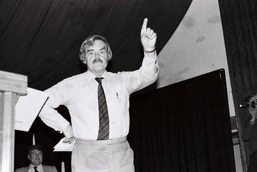 Image: Norman Jones speaking against homosexual law reform