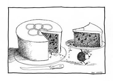 Image: Los Angeles Olympics cartoon