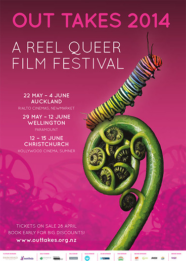 Image: Out Takes festival poster, 2014