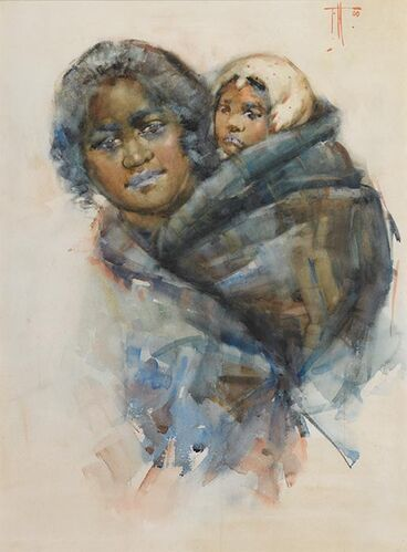 Image: Frances Hodgkins, 'Maori woman and child'