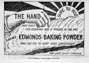 Image: Edmonds Baking Powder advertisement