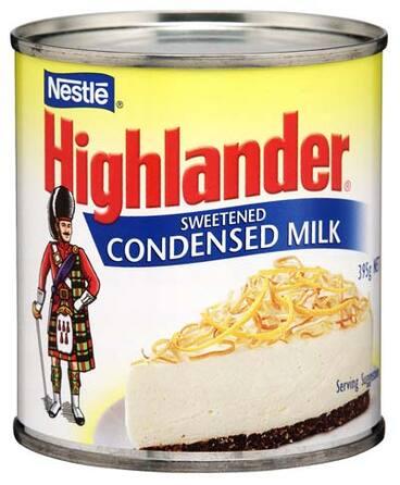 Image: Highlander sweetened condensed milk