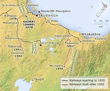 Image: Rail routes, 1950–1980