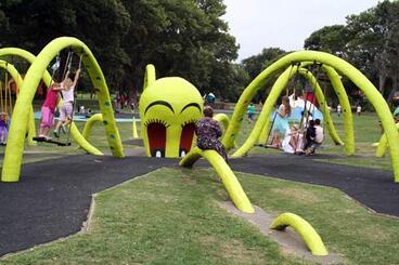 Image: Octopus swings, Kōwhai Park