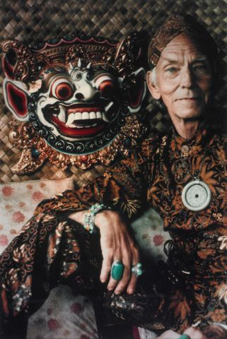 Image: Photograph of Theo Schoon in Indonesian Dress