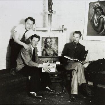 Image: Theo Schoon, Dennis Knight-Turner and Gordon Walters