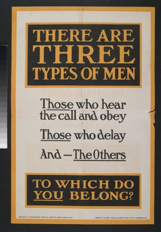 Image: Poster, 'There Are Three Types Of Men'