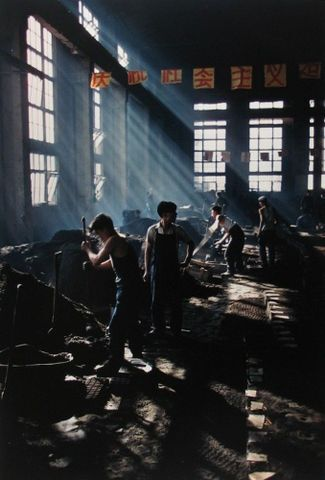 Image: Students working in a factory