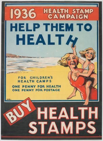 Image: Poster, '1936 Health Stamp Campaign'