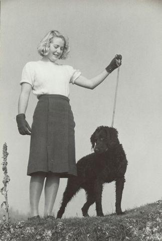 Image: Vivienne Hopkins and dog