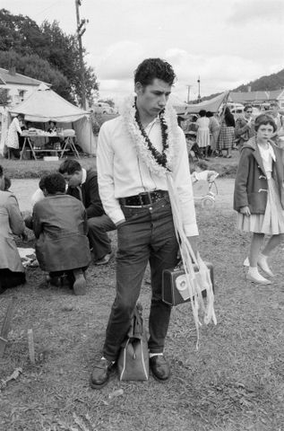 Image: [Young man at festival]