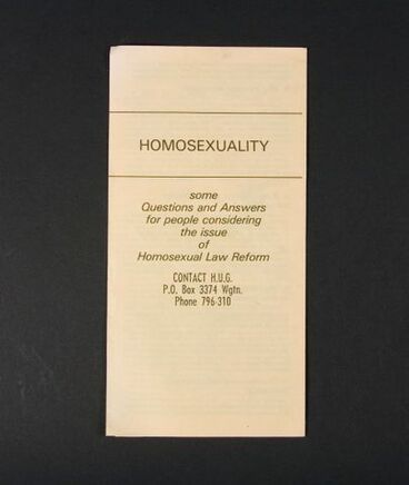 Image: Pamphlet, 'Homosexuality'