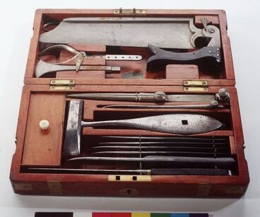 Image: Set of amputation instruments