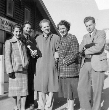 Image: Brian Brake with Doreen Blumhardt and friends