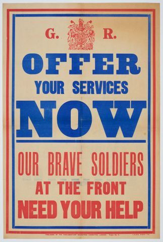 Image: Poster, 'Offer Your Services Now'