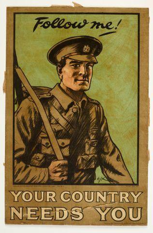 Image: Poster, 'Follow me!'