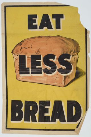 Image: Poster, 'Eat Less Bread'