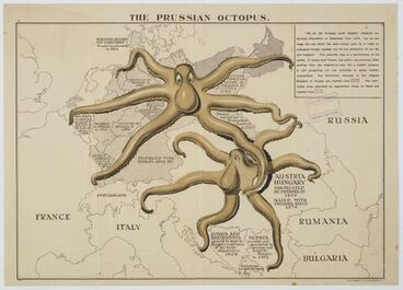 Image: Poster, 'The Prussian Octopus'