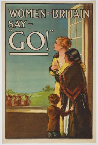 """Image: Poster, 'Women of Britain say - """"Go!"""" '"""